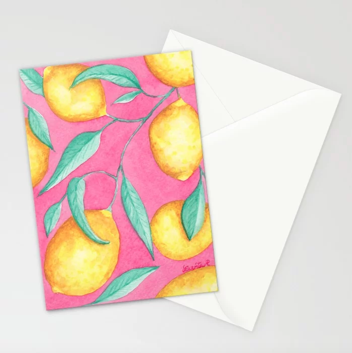 Pink Lemonade - 5x7 Cards (set of 10)    $23.99