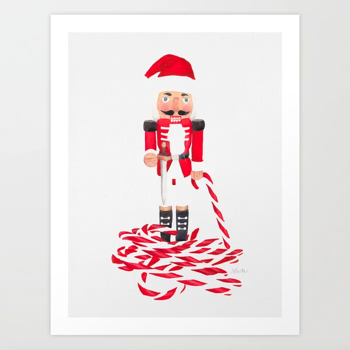 Nutcracker Cane - Art Print |   $21.99