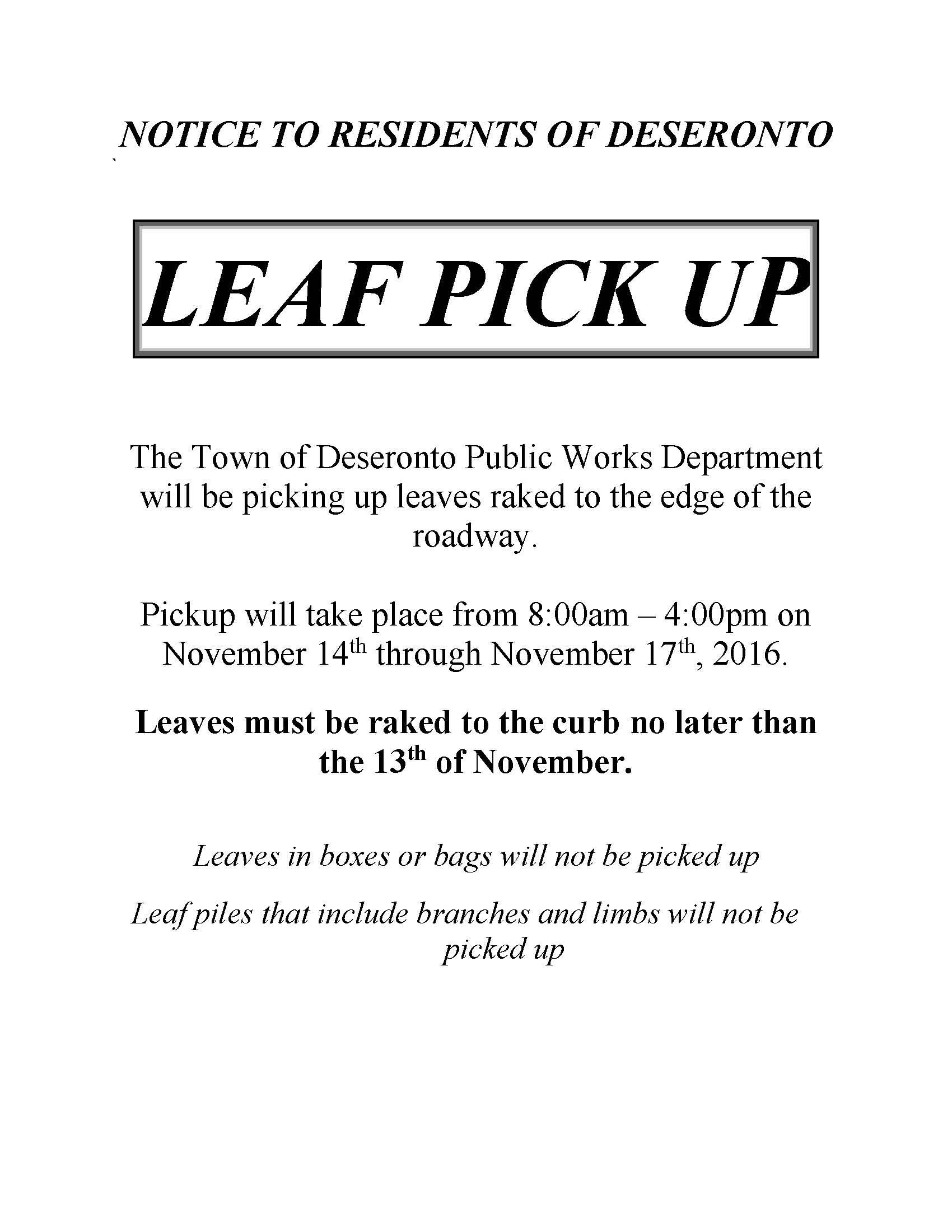 Leaf Pick Up
