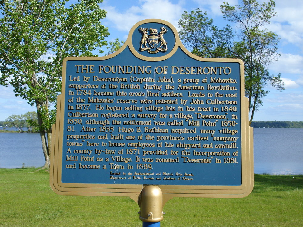 Founding of Deseronto Plaque-08