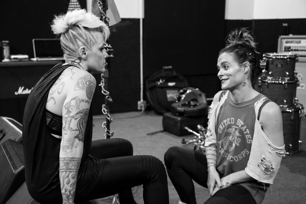 Otep and girlfriend Holli