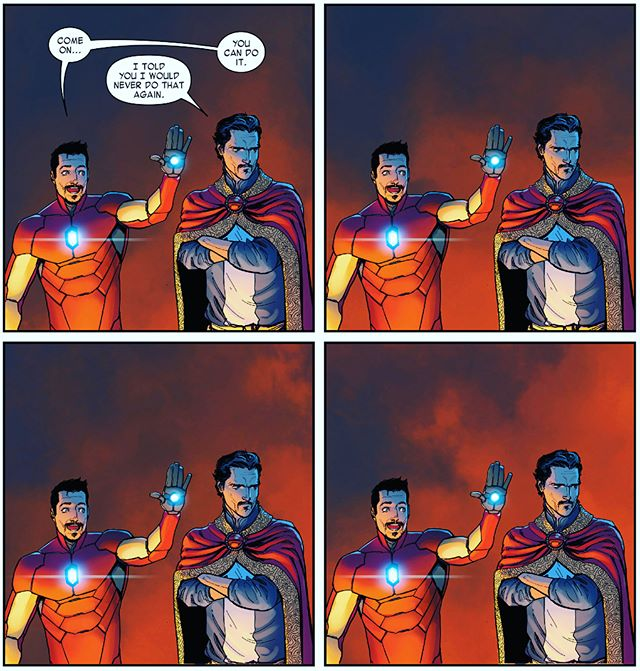 Have you seen the latest #avengers #infinitywar Tv spot? • Here is to hoping for an awesome facial hair bros scene! • #disney #avengersinfinitywar #marvel #ironman #drstrange #awesomefacialhairbros #comic #comics #robertdowneyjr #benedictcumberbatch