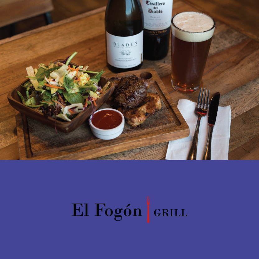 "El Fogón Grill   (Little High, 255 St Asaph St, Christchurch Central)   Pork Ribs, Beef Milanesa ""Beef Schnitzel"" OR Parrillada ""Beef, Chicken, Chorizo"": with your choice of salad or fries / Beverage pair: tap craft beer or house wine"