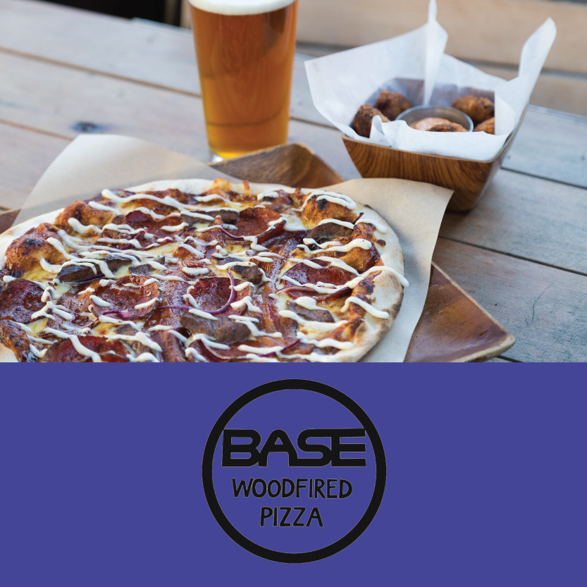 Base Pizza  ( Little High, 255 St Asaph St, Christchurch Central))   Sir George has Beef with Rowdy's Nuggets: Pizza with Smokey BBQ sauce mozzarella, bacon, steak, pepperoni, red onion and topped with Aioli, set next to the Nuggets, which are slow cooked BBQ beef brisket served with Chipotle mayo. Paired with the Brew Moon's Wolf of Washington American Pale Ale.