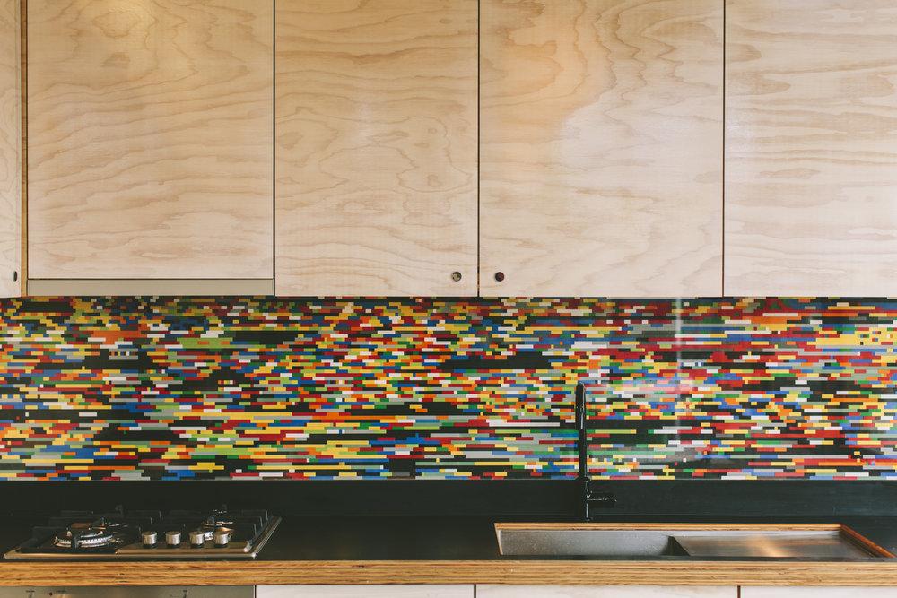 Takt pod granny flat splashback kitchen lego