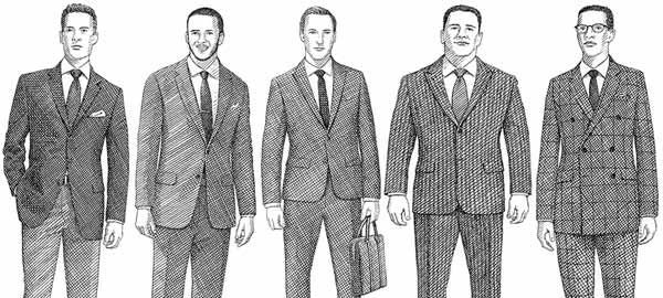 Suit on different body types  -  Image by Fashion Beans