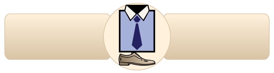 Completing the look of suit - with shirts, ties and shoes