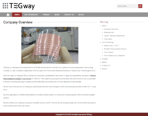 Tegway Official Website
