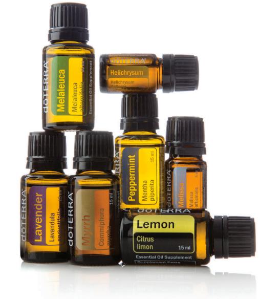 Lavender,Lemon, Peppermint, Melissa, Myrrh, Melaleuca, Helichrysum...