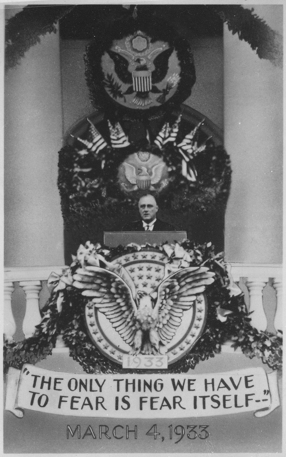 Figure 1FDR's 1933 Inagural Speech. Image  credit .