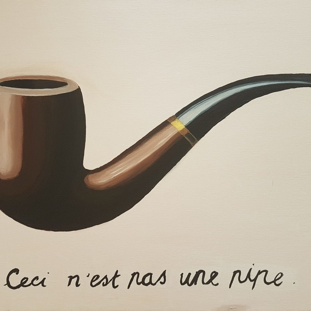 Ceci n'est pas une pipe by Magritte