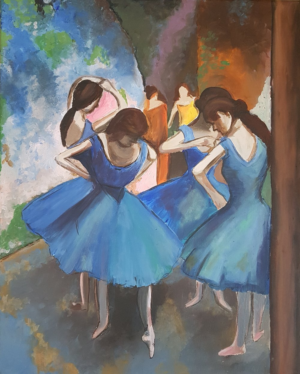 Dancers in Blue by Degas