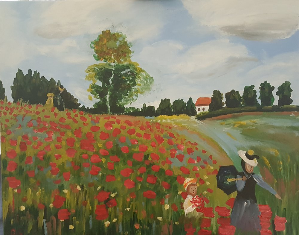 Poppyfield by Monet