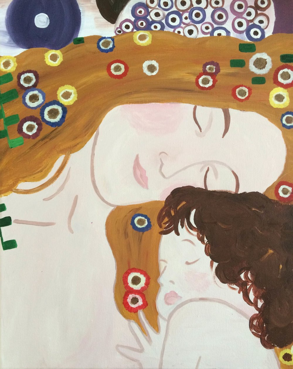 Mother and Child by Klimt