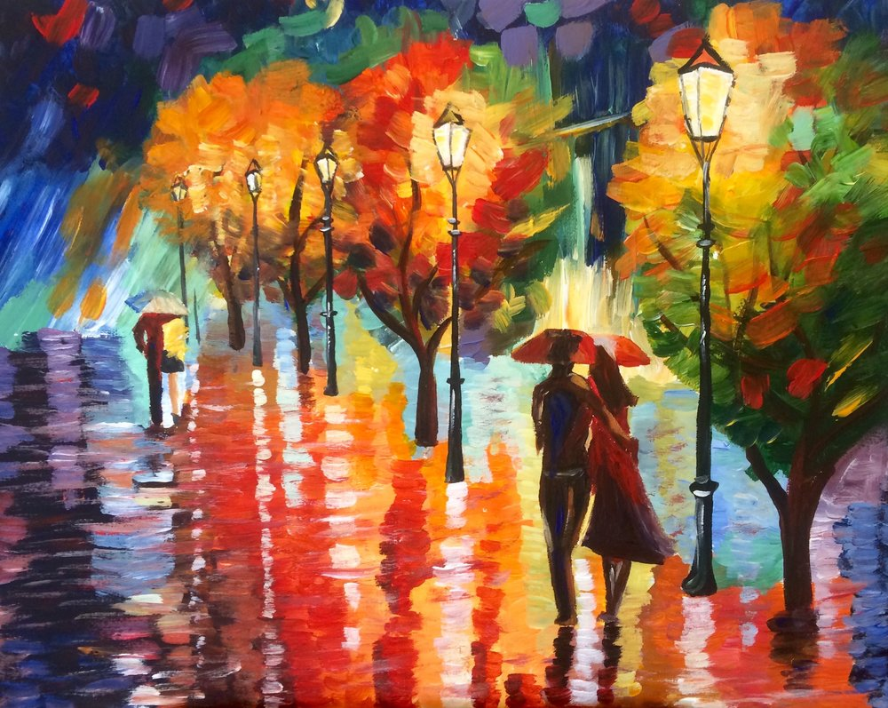 Two Couples by Afremov