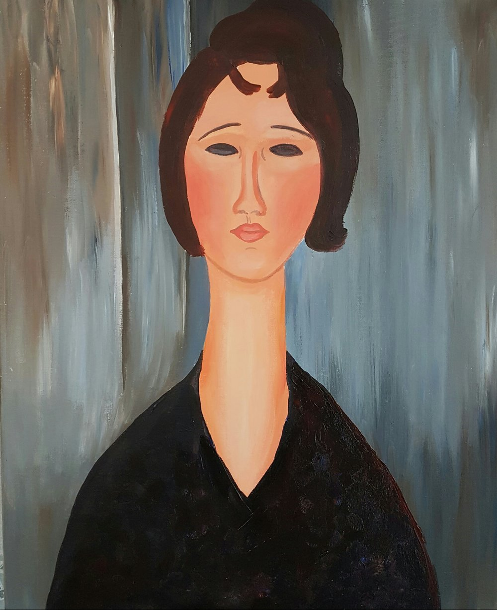 Portrait of a Young Woman by Modigliani