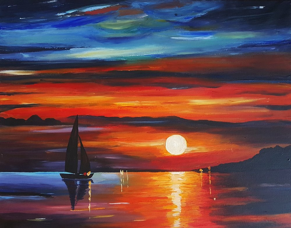 Quiet Sunset by Afremov