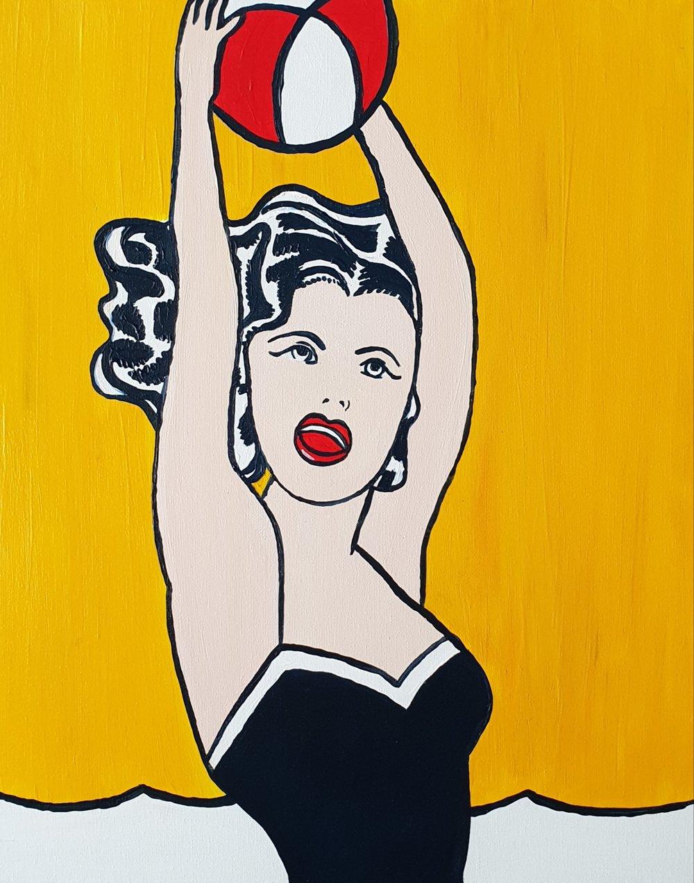 Girl with Ball by Lichtenstein