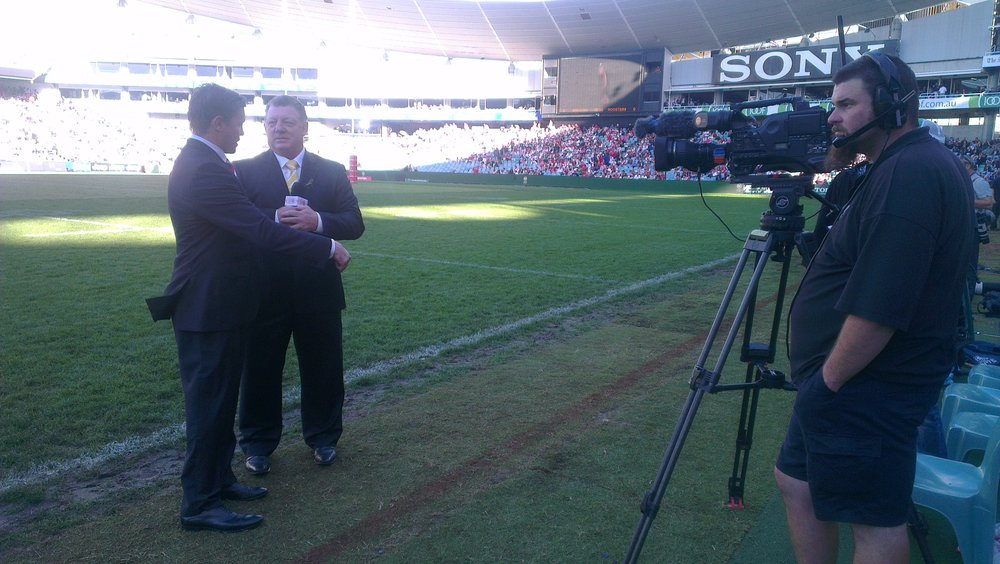 Interviewed as part of Channel 9's ANZAC Day Rugby League coverage