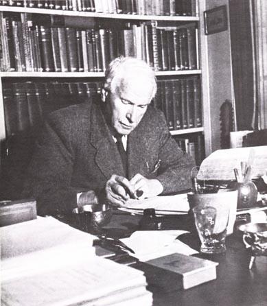 Carl Jung writing