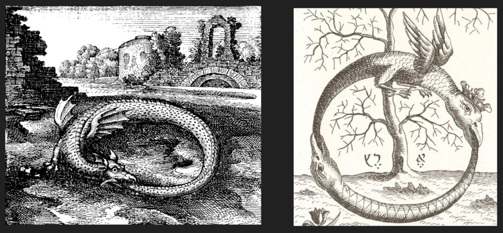 The Uroboros - sometimes imaged as 2 (winged) serpents