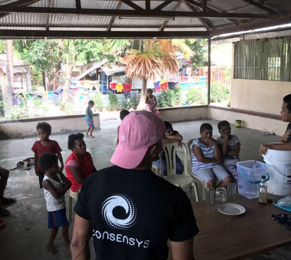 Blockchain for Social Impact    in the Philippines with Waves for Water Building Filters