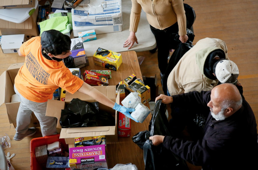 Relief center in the Rockaways after Hurricane Sandy (copyright Babita Patel)