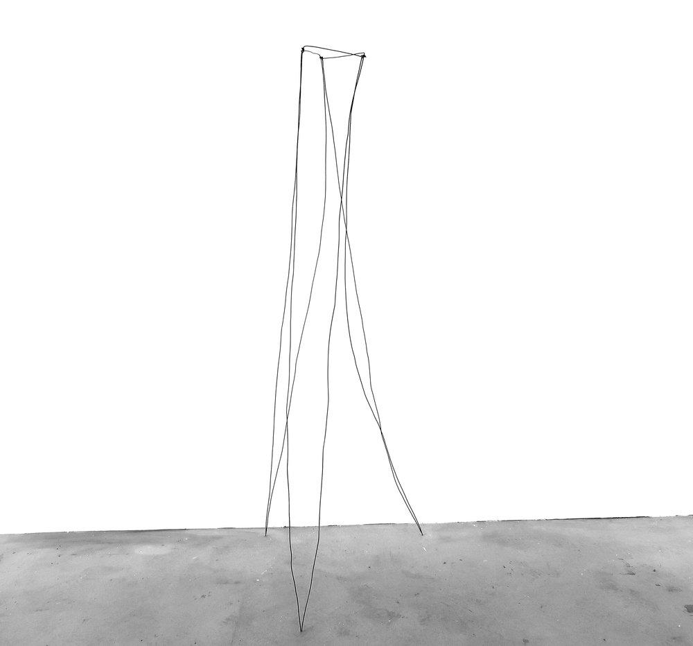 TWENTYSIX (old three legs)   Wire  210 x 60 x 60cm  2018