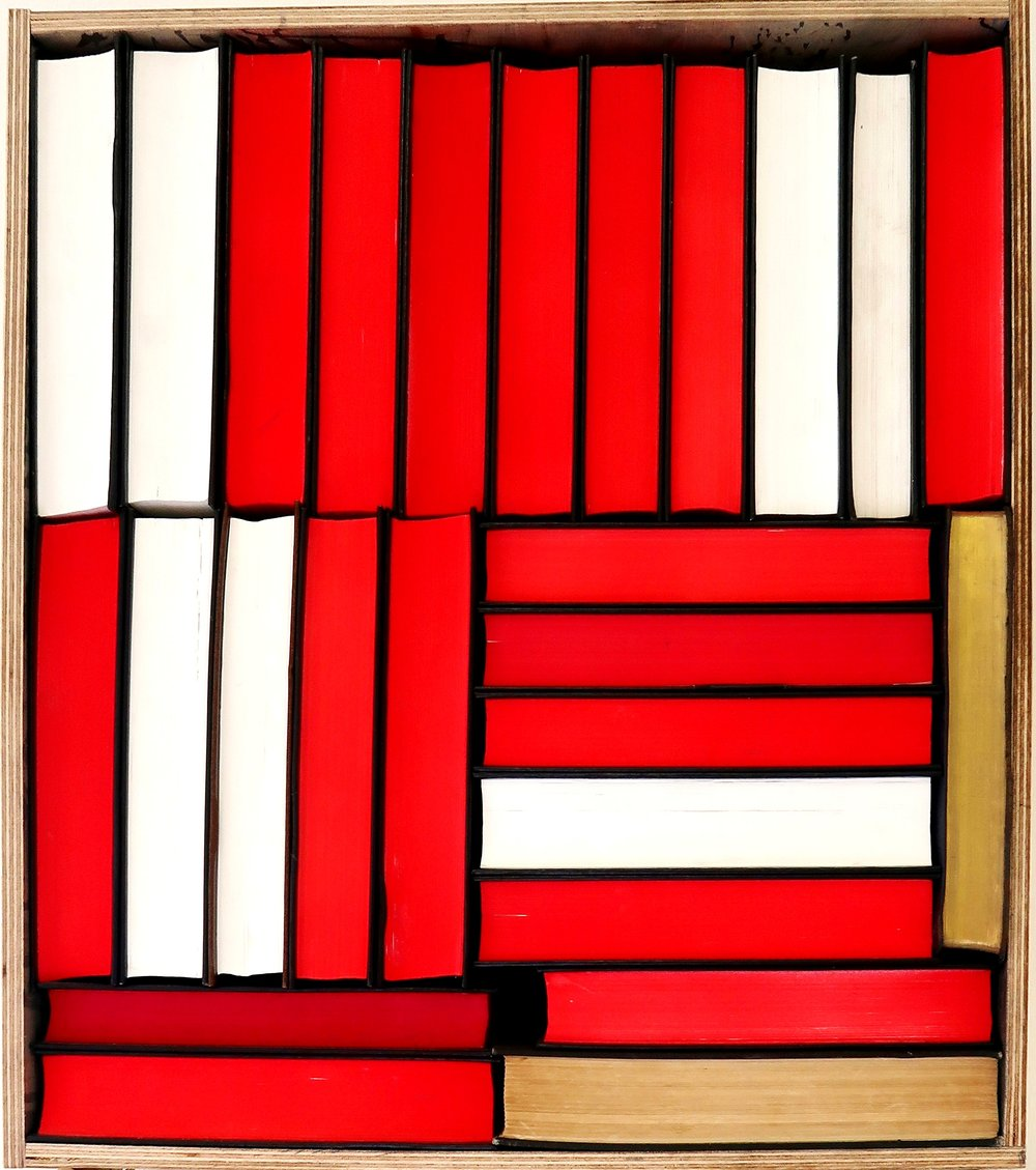 UNTITLED (BOOKS)   south african bibles and wooden frame  30 x 35 x 7cm  2017