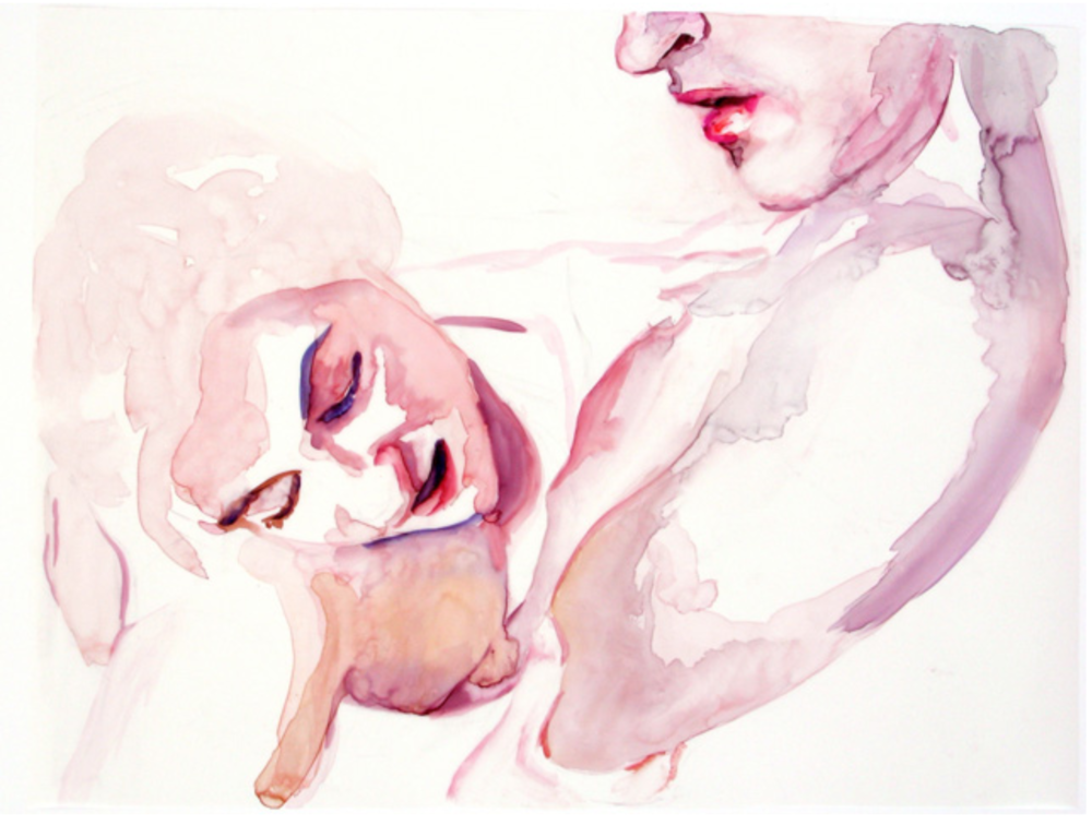 Untitled, Watercolor and pencil on mylar, 16 x 20 in, 2007 @ Angela Fraleigh, All Rights Reserved