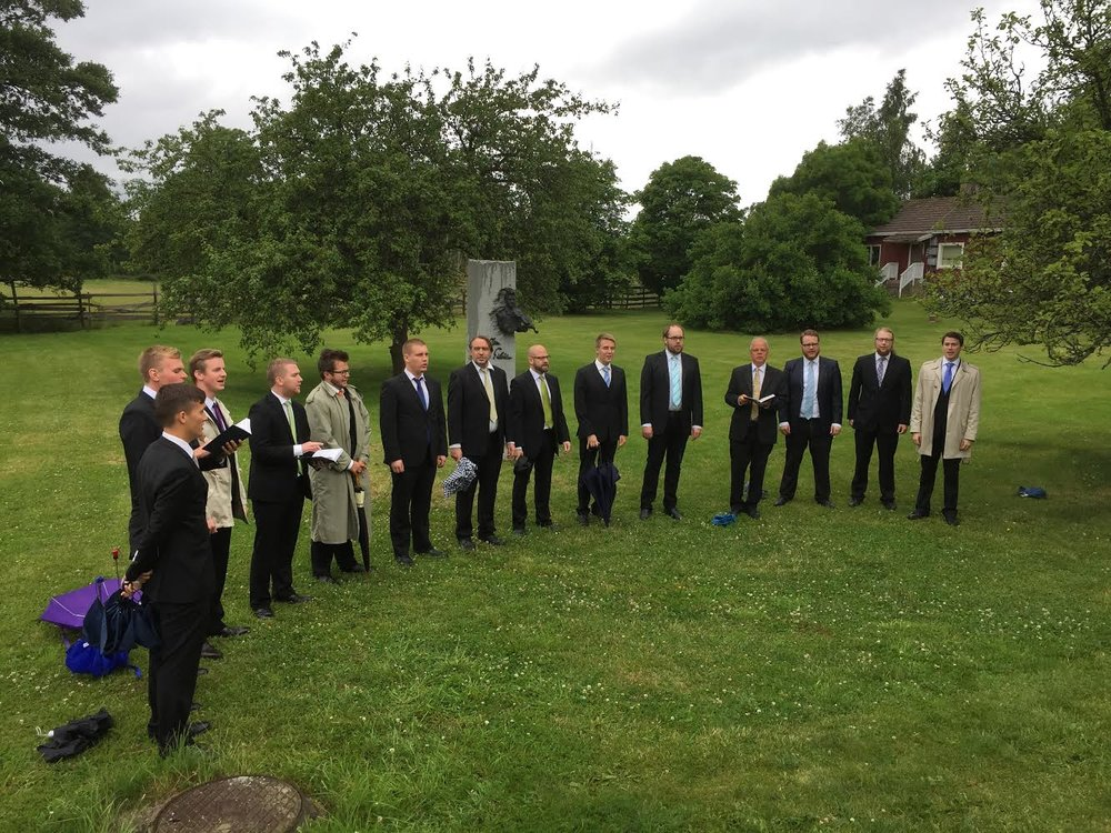 Brahe Djäknar vid Sibelius statyn, 2015