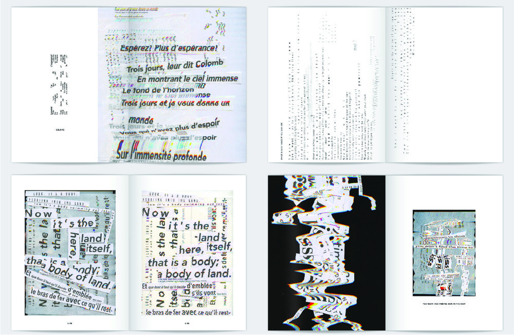 """Lyric Booklet for Nicholas Jaar's album """"Space is Only Noise"""" designed by Hailey"""