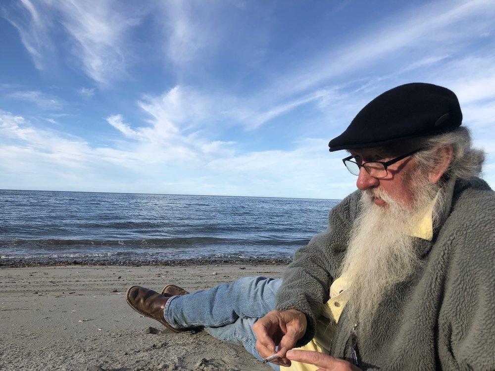 Phil on the beach