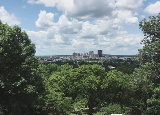 A view of downtown Dayton, Ohio from the vantage of Woodland Cemetery. Eric's scholarship focuses on the history of political struggles in mid-sized towns of the Rust Belt. He feels validated that PBS's  Frontline  recently decided to air  a documentary on Dayton .
