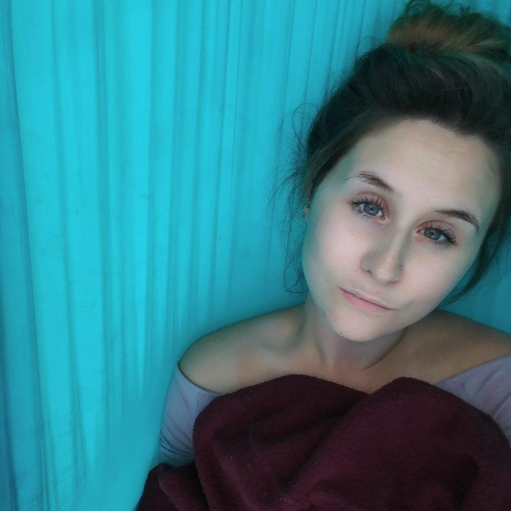 Dawn in her hammock.