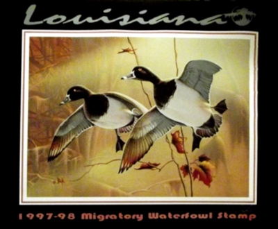 1998 LOUISIANA STATE DUCK STAMP - 1997-98 Migratory Waterfowl Stamp