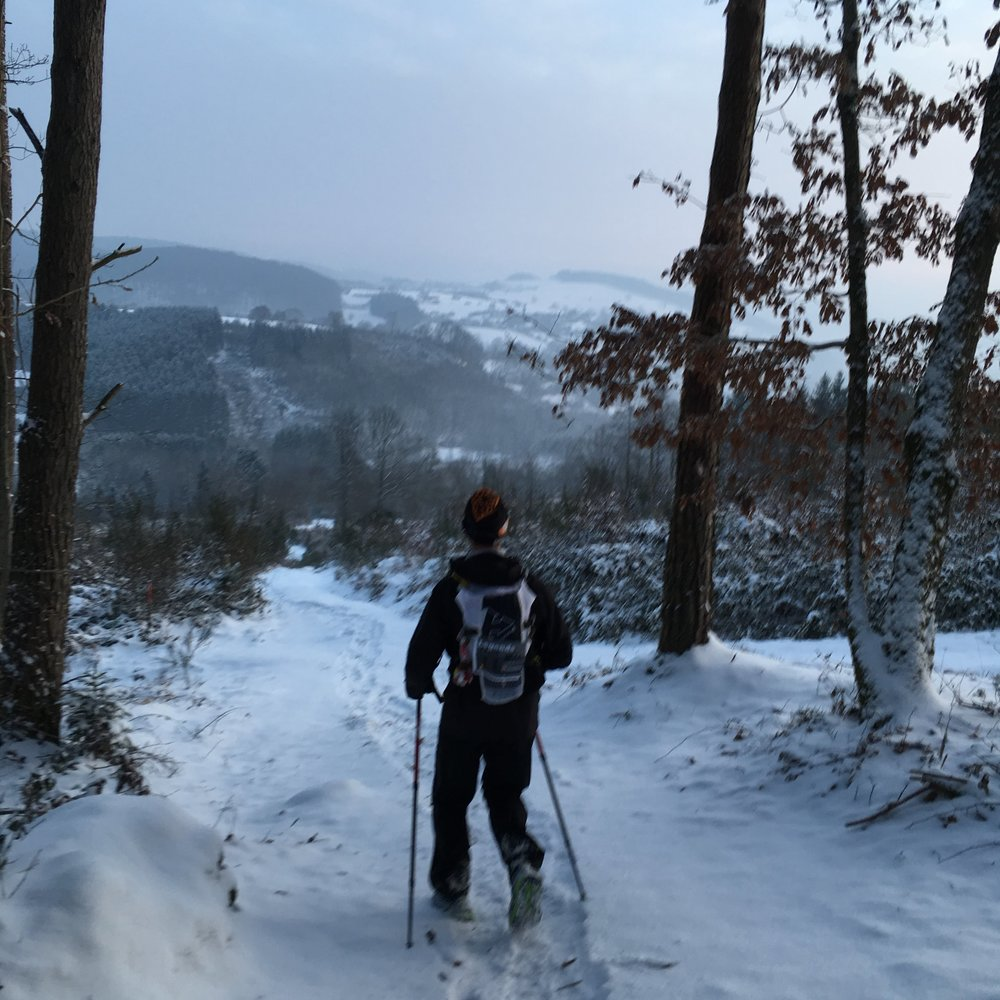 Snowy conditions between CP1 and CP2