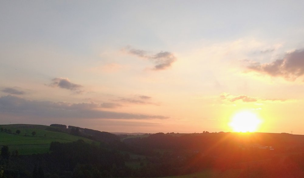 Sunset between Clervaux and Troisvierges