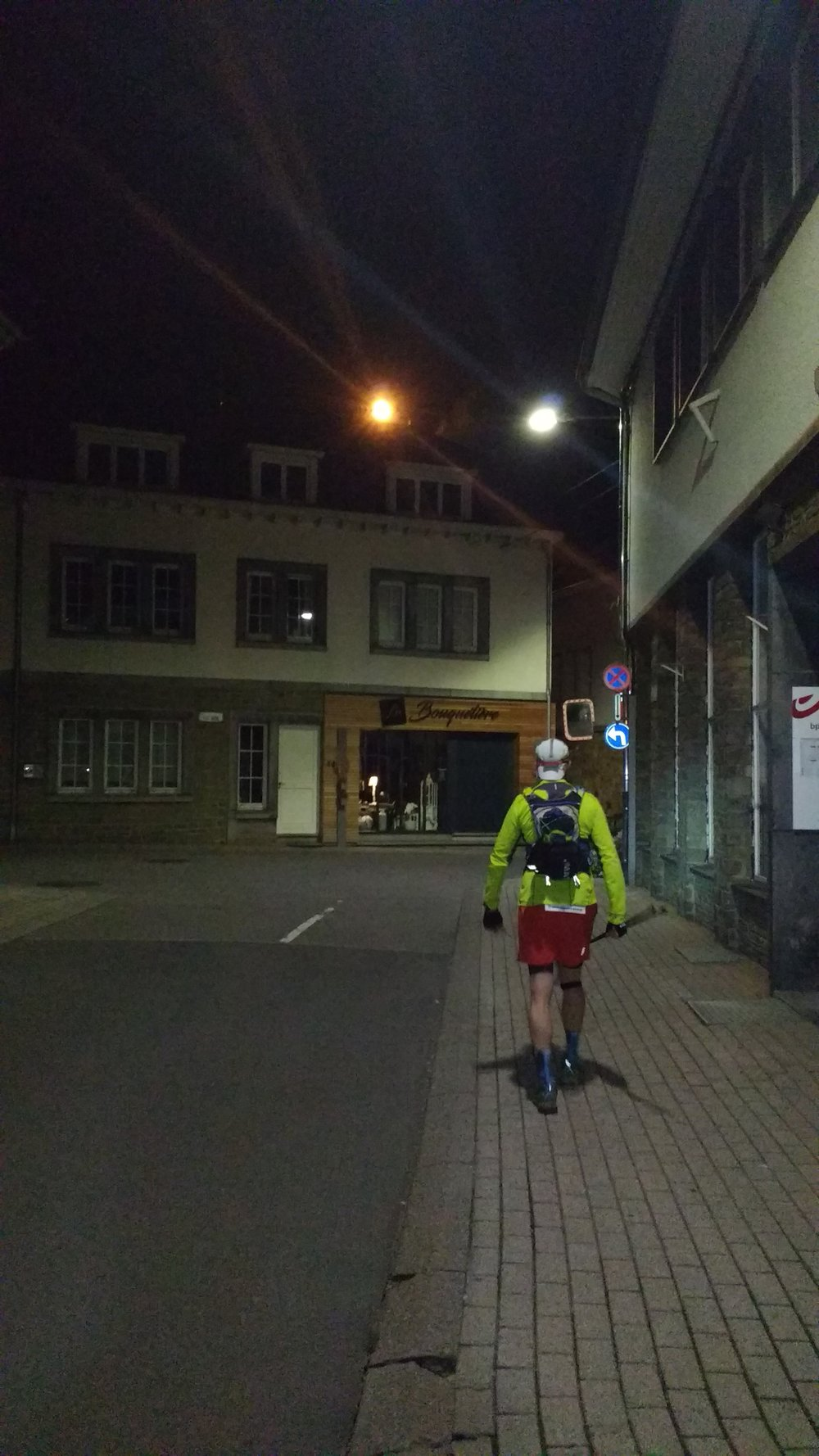 Sighteeing in Houffalize with Ingo after 125k