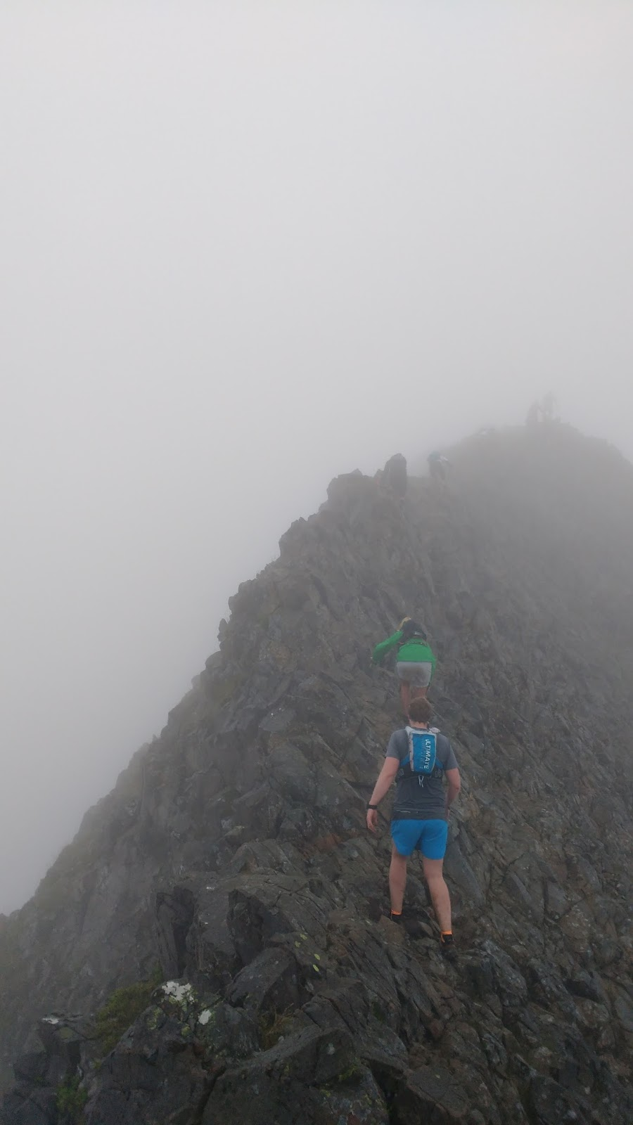 Going over Crib Goch during the V3K