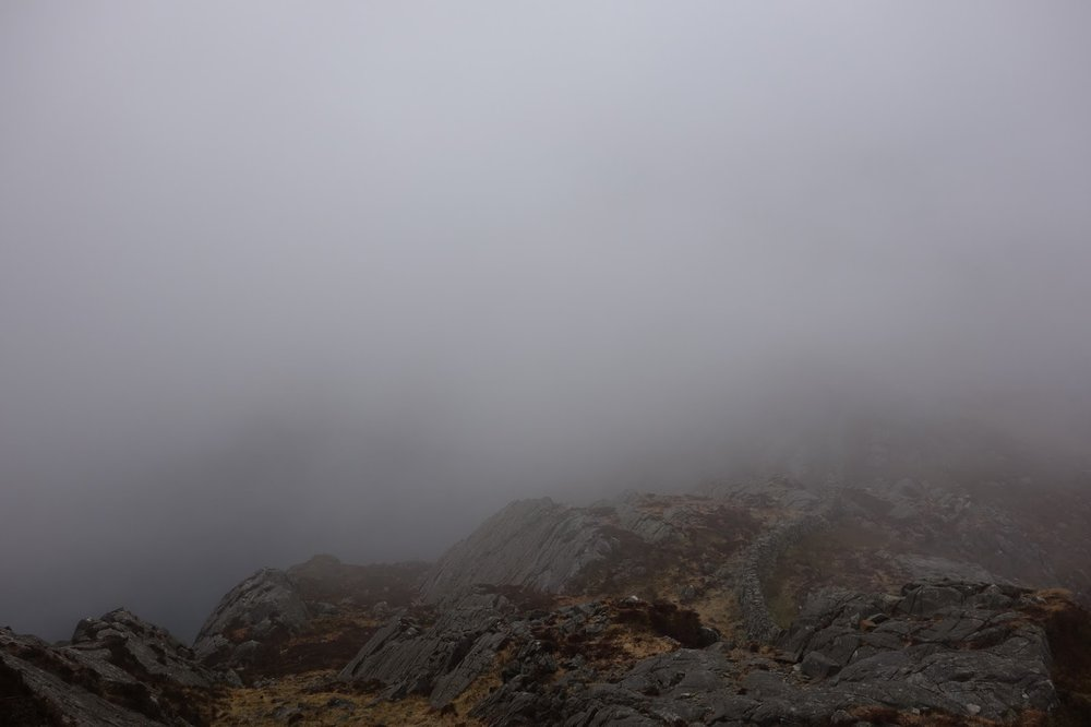 Hill fog in Snowdonia