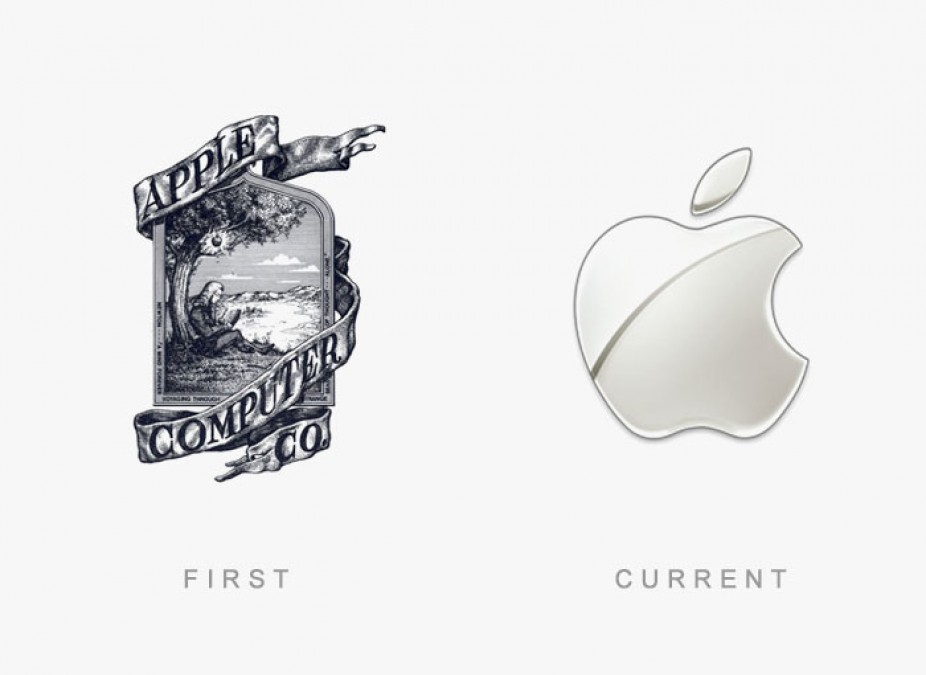 Look at Apple's original logo. Imagine  that  on the back of every Mac.  Sheesh.  It's cool in a vintage way, but it sure doesn't scale well. photo credit:  www.alphr.com