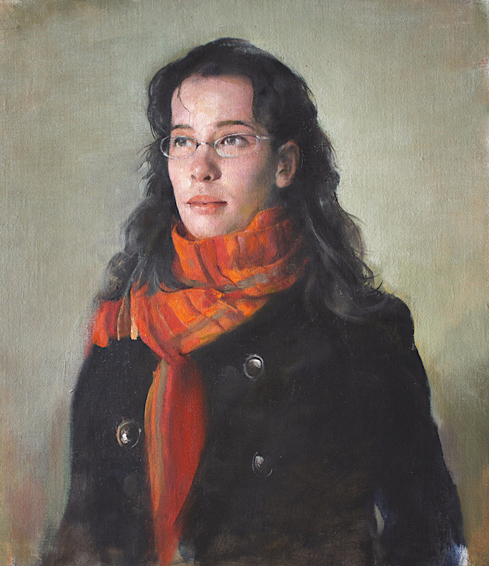 Red scarf, 2010