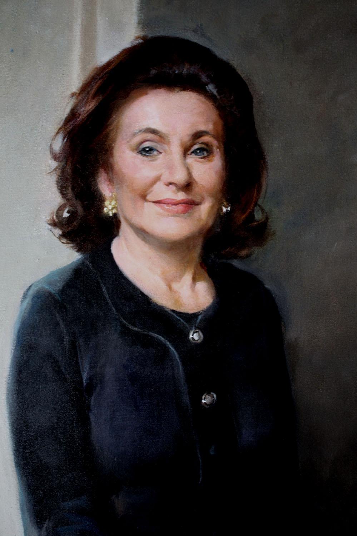 Detail, Portrait of Renee and Robert Belfer, 2012