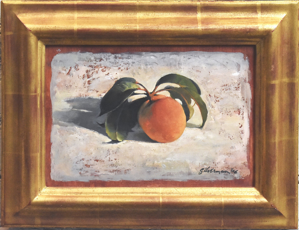 Peach, 1988 oil framed, 10x12 in  ………………………………………...$4500