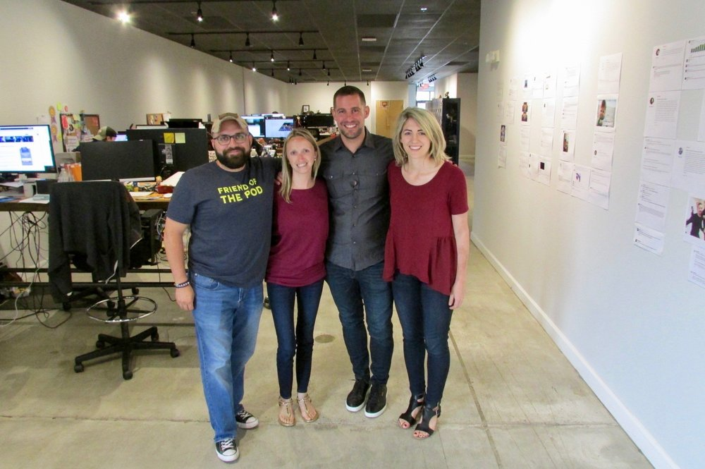 Left to Right: Chris Duprey, COO; Natalie Davis, VP of Talent; Bob Ruffolo, Founder & CEO; and me! In case you're wondering, we did not intentionally color coordinate for this picture…