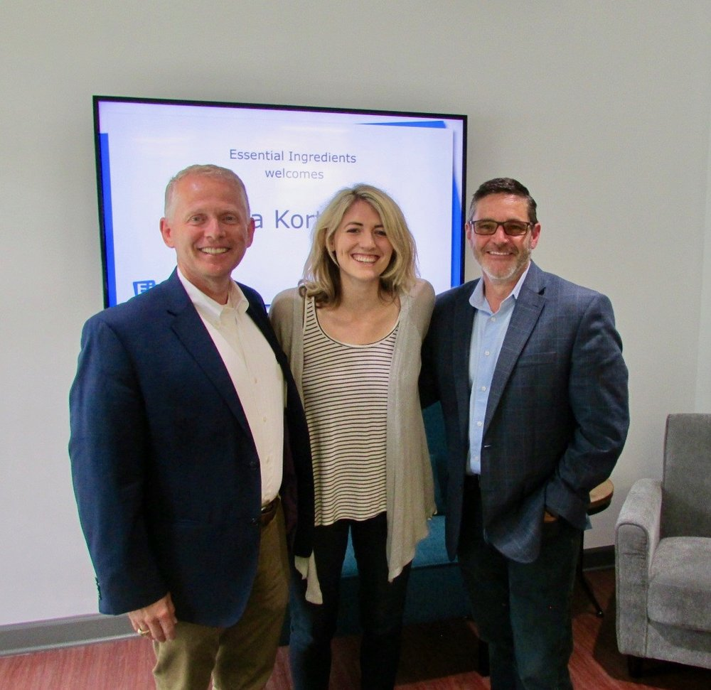 Left to right: Justin Jordan, President & COO; me; Kris Maynard, Co-Founder and CEO