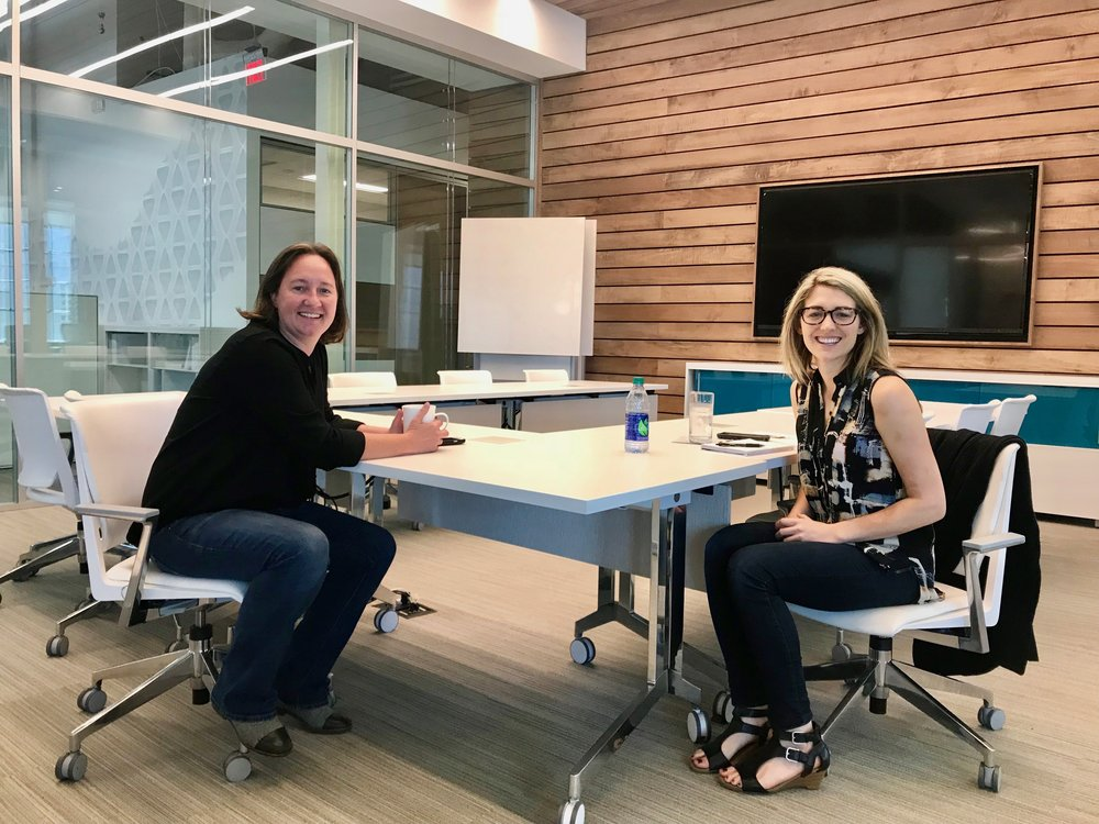 Executive Vice President, Tara O'Gorman (left) and I talk turnerboone's company culture.