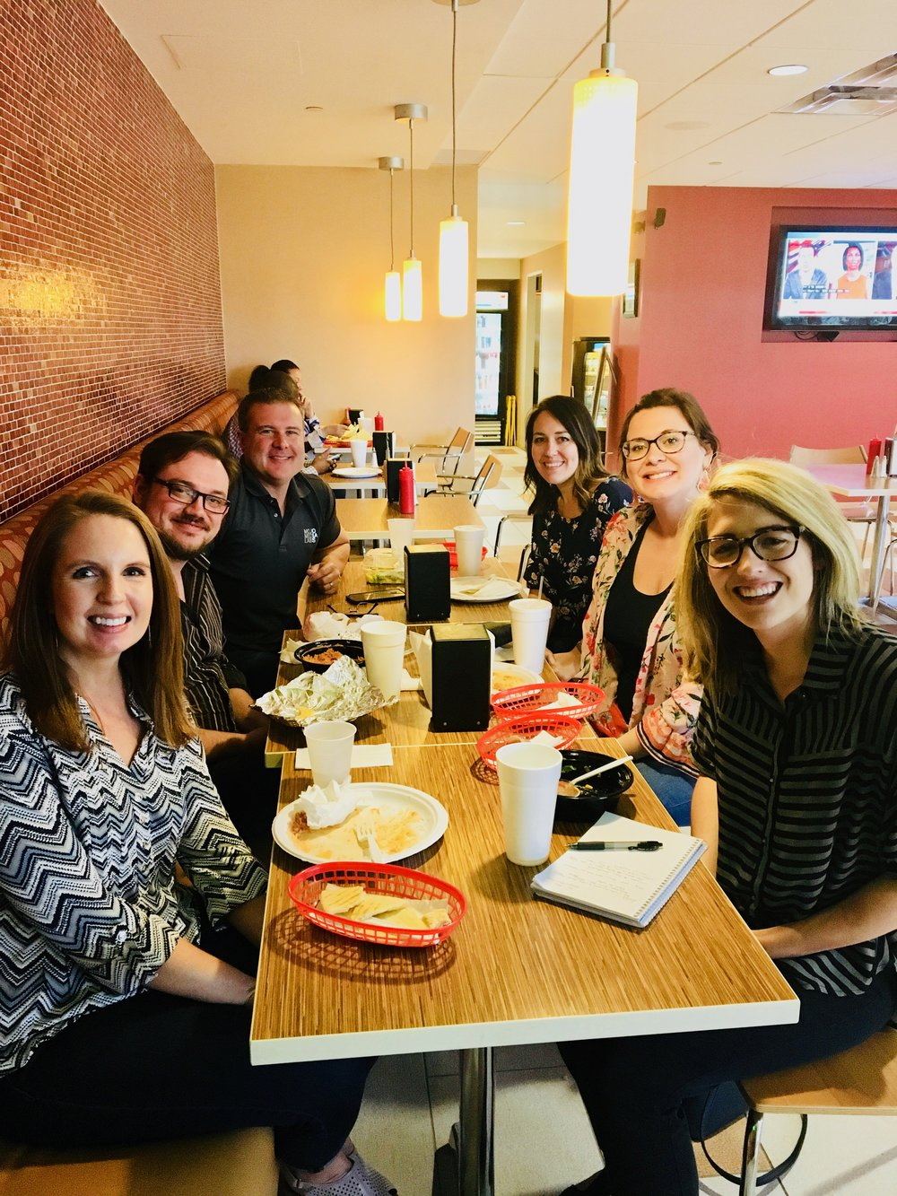 Lunch with Mojo Media Labs team members.
