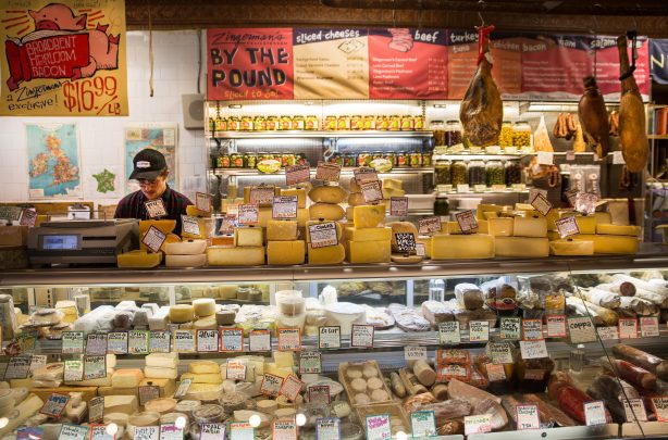 The cheese counter at Zingerman's Deli (Credit: Emma Boonstra).